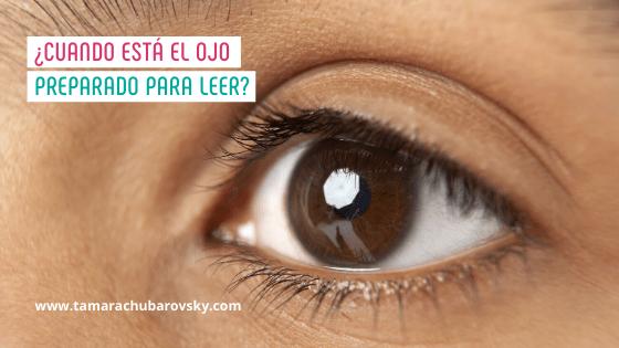 ¿Cuando está el ojo preparado para leer?